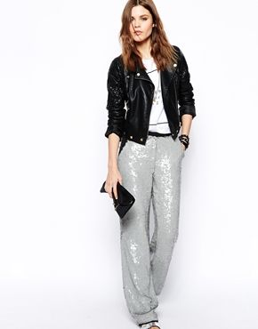 asos sparkle trousers