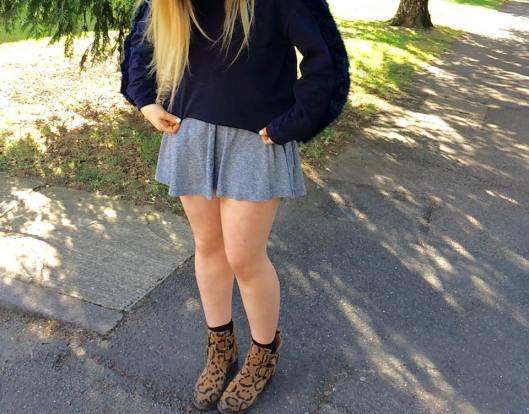 Oversized Jumper, Leopard Print Boots
