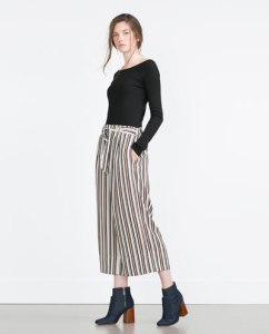 zara flares striped